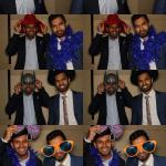 photo booth fun at a wedding