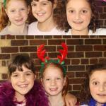 kids Christmas photo booth moments
