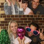 parents and kids at photo booth